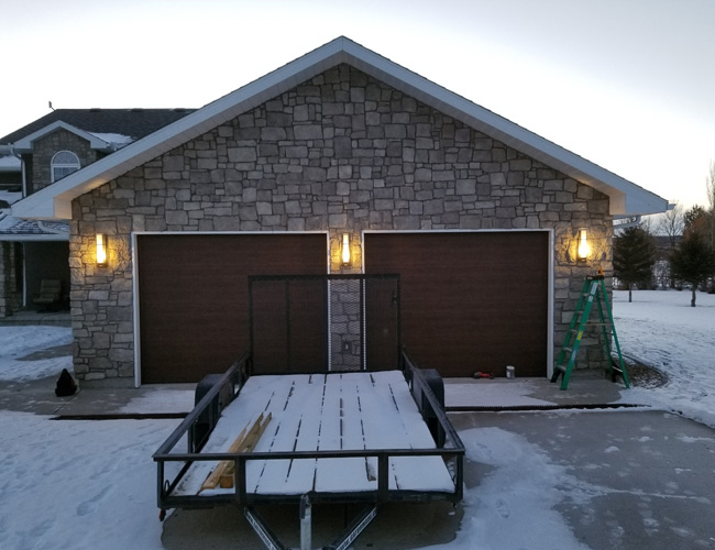 Front Garage Lights